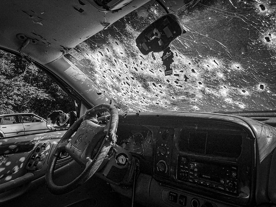Vehicle bullets Windshield