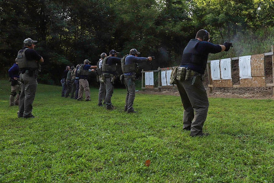 Students gun range warm-up