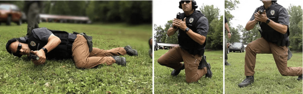 Position Transition drills with handgun