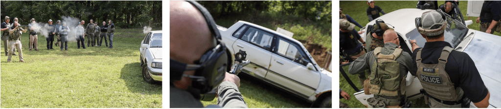 High Threat Vehicle Engagements Students Gun Range